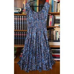Watercolor Smock Flowy Maxi Dress